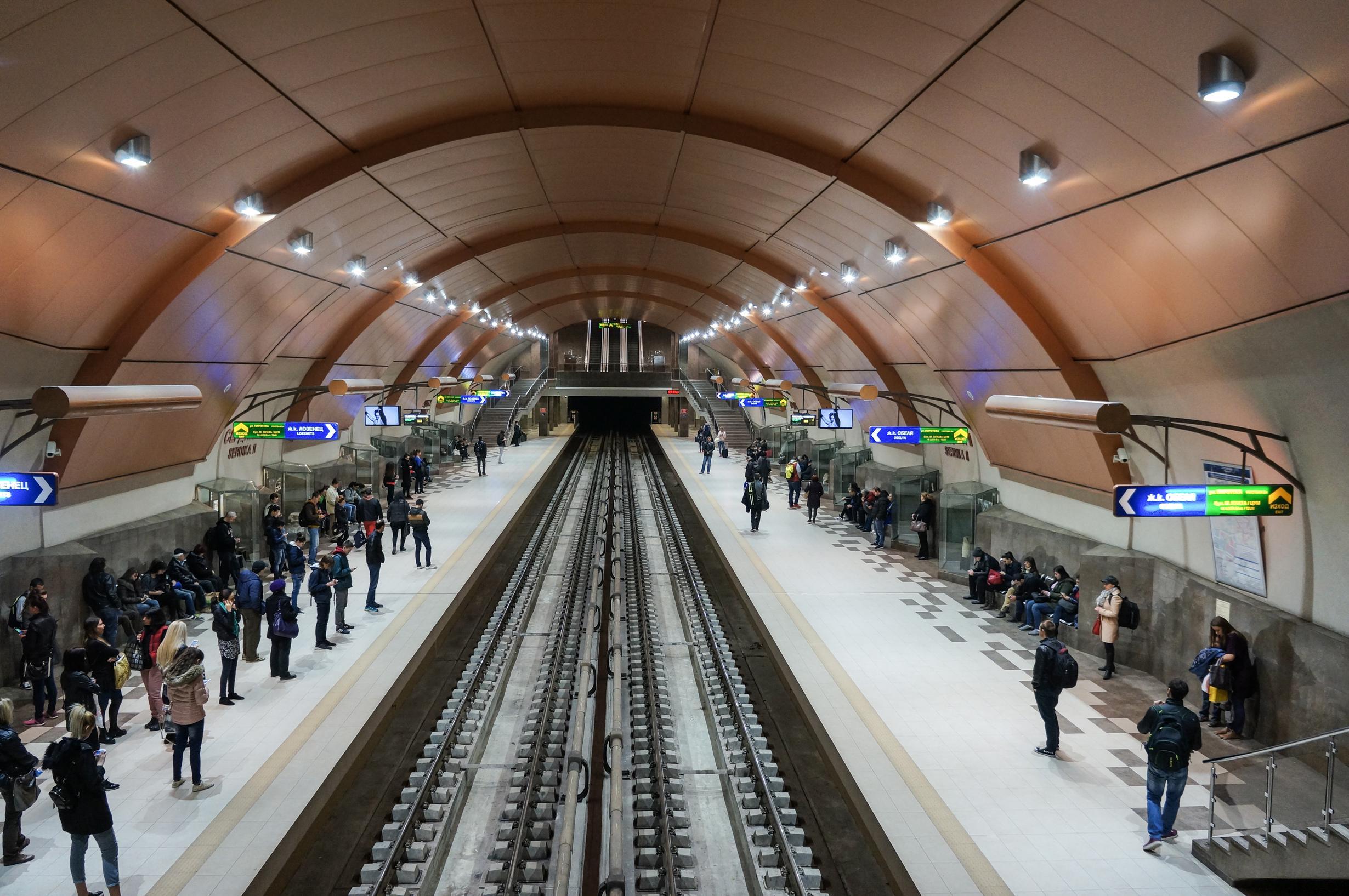 Die U-Bahnhöfe gehören zu den modernsten der Welt