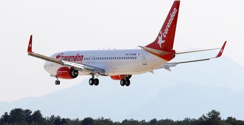 Corendon Airlines im Landeanflug