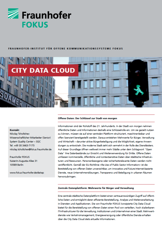 Screenshot Projektblatt City Data Cloud