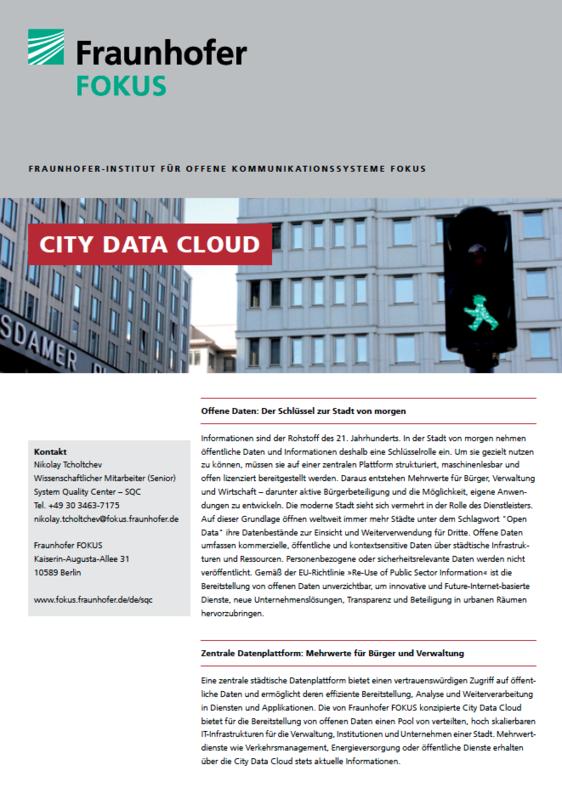Screenshot Projektblatt City Data Cloud