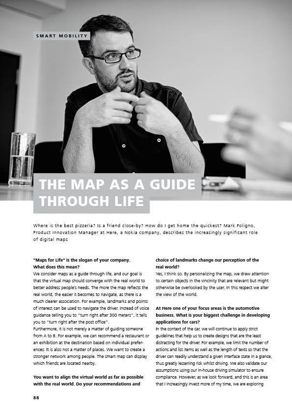 Cover Interview Mark Foligno HERE Annual report