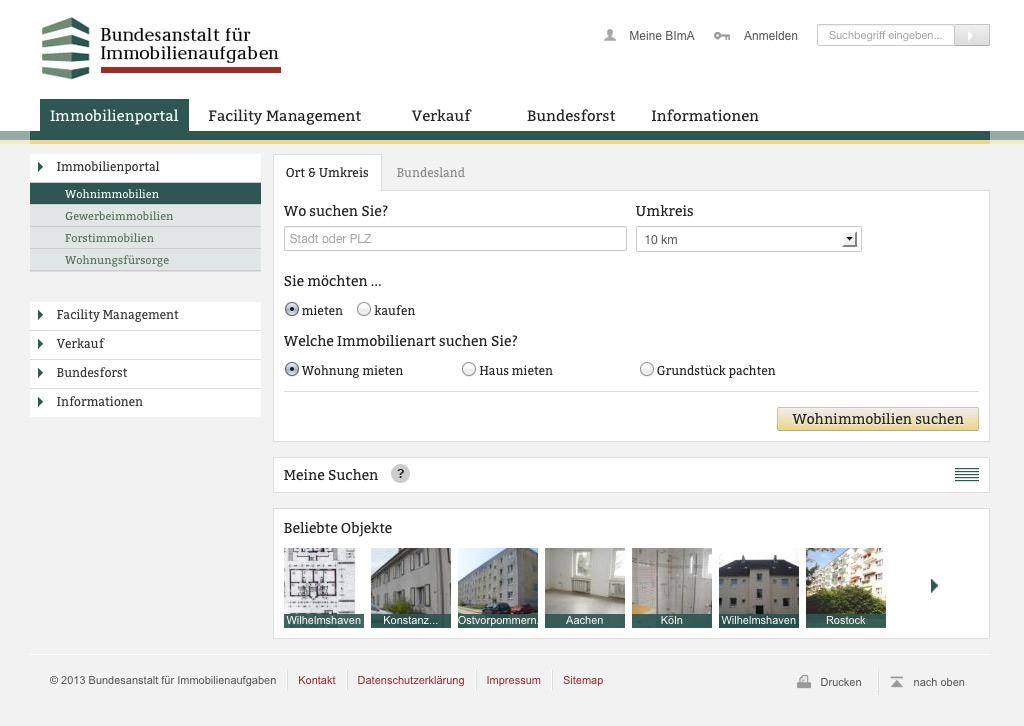 The Institute for Federal Real Estate (BImA) used the handling concept in Infopark's Content Management System.