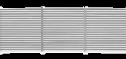 Gittereinsätze aus Aluminium mit feststehenden waagerechten Lamellen