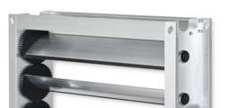 Multileaf dampers made of aluminium for low-leakage shut-off in air conditioning systems