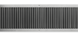 Ventilation grilles, made of galvanised sheet steel, with individually adjustable, vertical blades, for installation into rectangular ducts