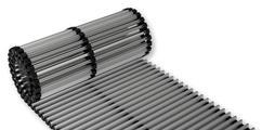 Rollroste aus Aluminium mit feststehenden Querlamellen für Bodeneinbau